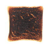 Close up of slice burned toast. — Stock Photo