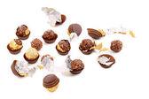 Massa runda choklad konfekt. — Stockfoto