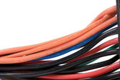 Multicolored computer cable. — Stock Photo