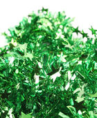 Christmas green tinsel with stars. — 图库照片