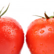 Two red ripe tomatoes close up. — Stock Photo #39317735