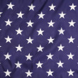 American flag with white stars. — Stock Photo