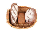 Fresh bread in baskets — Stock Photo