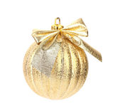 Golden dull christmas ball — Stock Photo
