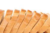 Close up of white sliced bread. — Foto de Stock