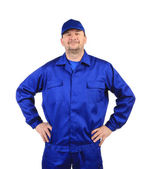 Worker in winter workwear. — Stock Photo