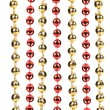 Strings of golden and red beads. — Stock Photo