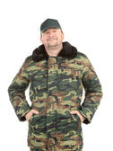 Man in military vest. — Stock Photo