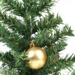 Christmas tree and yellow toy. — Stock Photo #40583893
