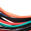 Stock Photo: Multicolored computer cable.