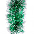 Stock Photo: Christmas green tinsel.
