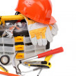 Stock Photo: Various working equipment.