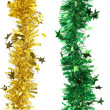Stock Photo: Christmas tinsels with stars.