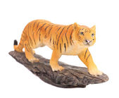 Plastic tiger figurine. — Stock Photo