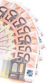 Вентилятор 50 евро. — Стоковое фото