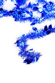 Tinsel Christmas blu con stelle. — Foto Stock