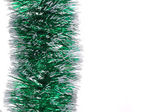 Christmas green tinsel. — Stock Photo