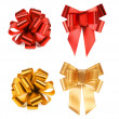 Big red and yellow bows. — Stock Photo #41575347