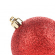 Christmas decoration red ball for tree. — Stock Photo