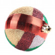 Christmas striped ball for tree. — Stock Photo #41575841
