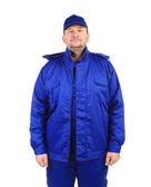 Worker in blue workwear. — Stock Photo