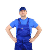 Worker with arms on waist. — Stock Photo