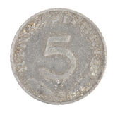 German 5 coin. Front view. — Stock Photo
