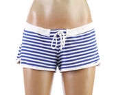 Woman's beach shorts on mannequin. Front. — Stock Photo