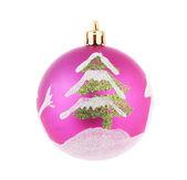 Christmas ball with tree. — Fotografia Stock