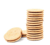 Stack of filled cookies. — Stock Photo