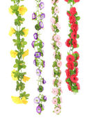 Collage of artificial flowers. — Stock Photo