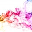Colorful smoke clouds close up. — ストック写真