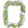 Wreath of violet flower. — Stock Photo
