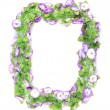 Stock Photo: Wreath of violet flower.