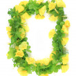 Stock Photo: Wreath of yellow flower.