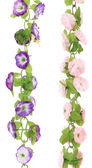 Collage of artificial flowers. Close up. — Stock Photo