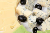 Blue cheese and olives — Stock Photo