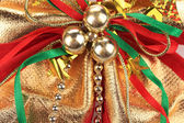Christmas ribbon decoration — Stock Photo