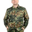 Man in military wear — Stock Photo