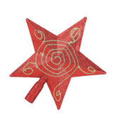 Red star Christmas decoration — Foto Stock