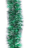 Christmas green tinsel — Foto Stock