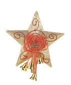 Golden star christmas decoration — Stock Photo