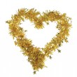 Golden heart from tinsel — Stock Photo #42582143