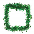 Green tinsel as a frame — Stock Photo #42582205