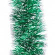 Christmas green tinsel — Stock Photo