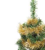 Christmas tree with garland — Stock Photo