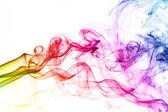 Colorful smoke clouds — Stock Photo