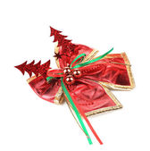 Christmas ribbon decoration — Foto de Stock