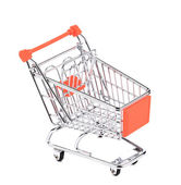 Shopping supermarket cart — Stok fotoğraf