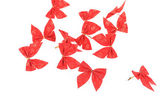 Festive red bows — Stock Photo